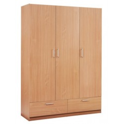 гардероб EJERSTED 3 door 2 drawer beech