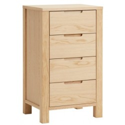 комод COD SEJS 4 drawers slim oak