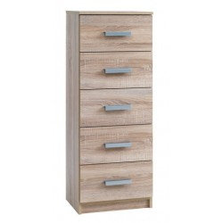комод KABDRUP 5-drawer slim oak