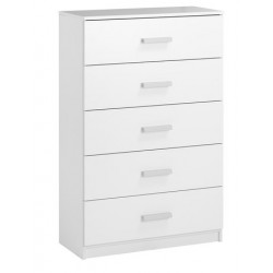 комод KABDRUP 5-drawer wide white