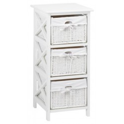 комод OURE 3 baskets white