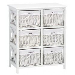 комод OURE 6 baskets white