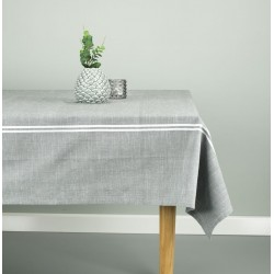 скатерть ALM 140x240 stripe dusty green SDP